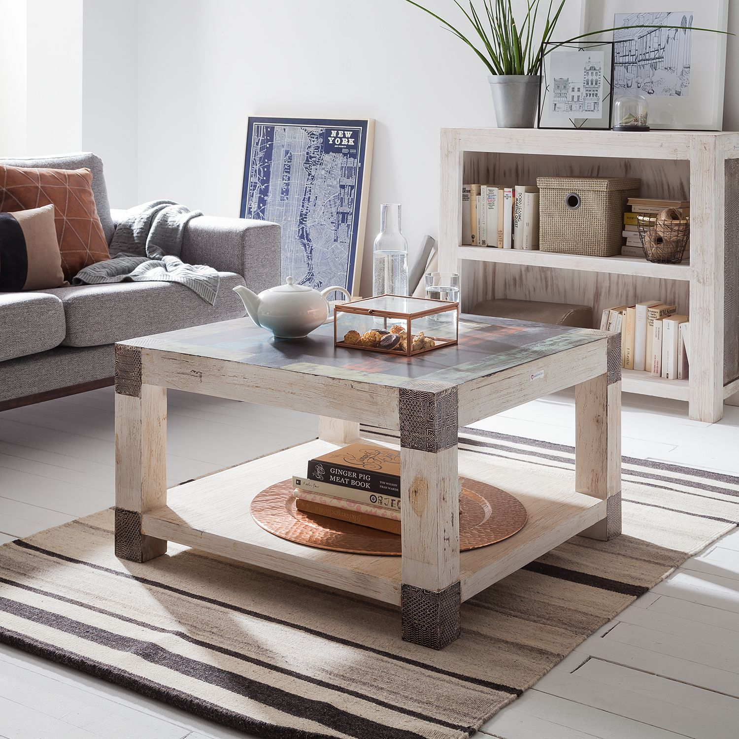 Home24 Salontafel Goa White, Wolf-Moebel