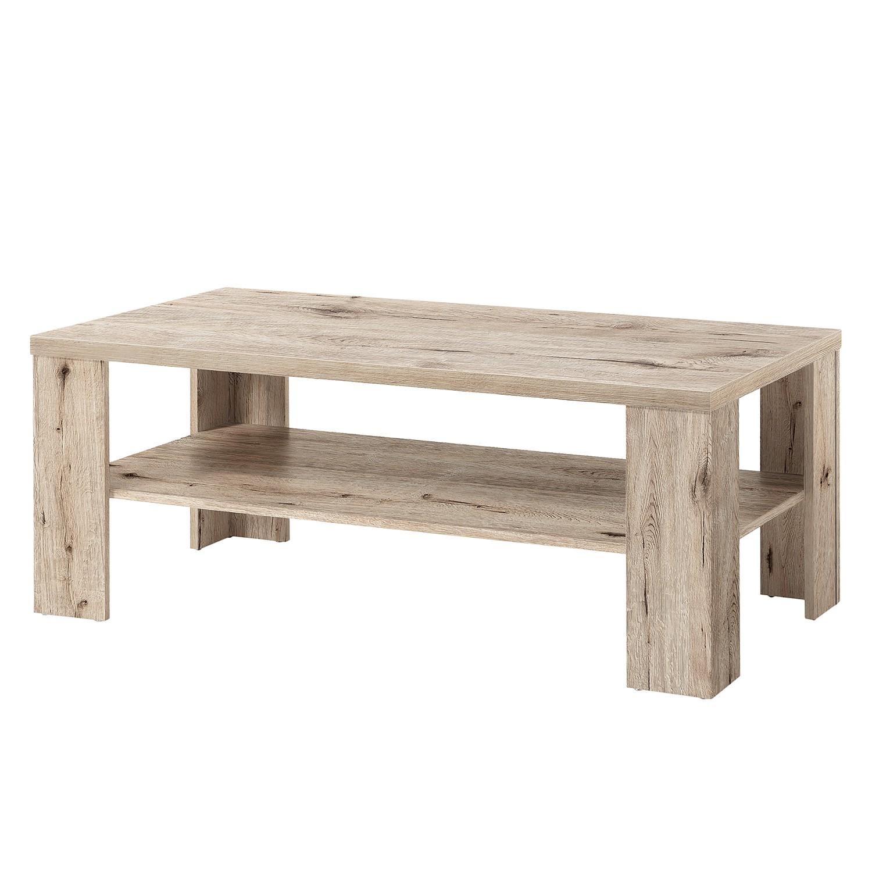 Table basse Hunton I - Imitation chêne de sable - 130 x 65 cm, mooved