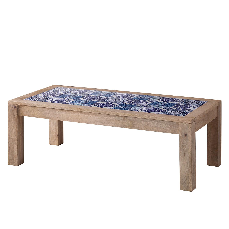 Table basse Ibiza - Manguier massif / Céramique - Manguier / Bleu, Ars Natura