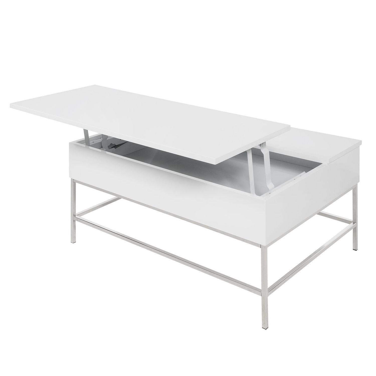 Table basse Impendo - Blanc brillant, Fredriks
