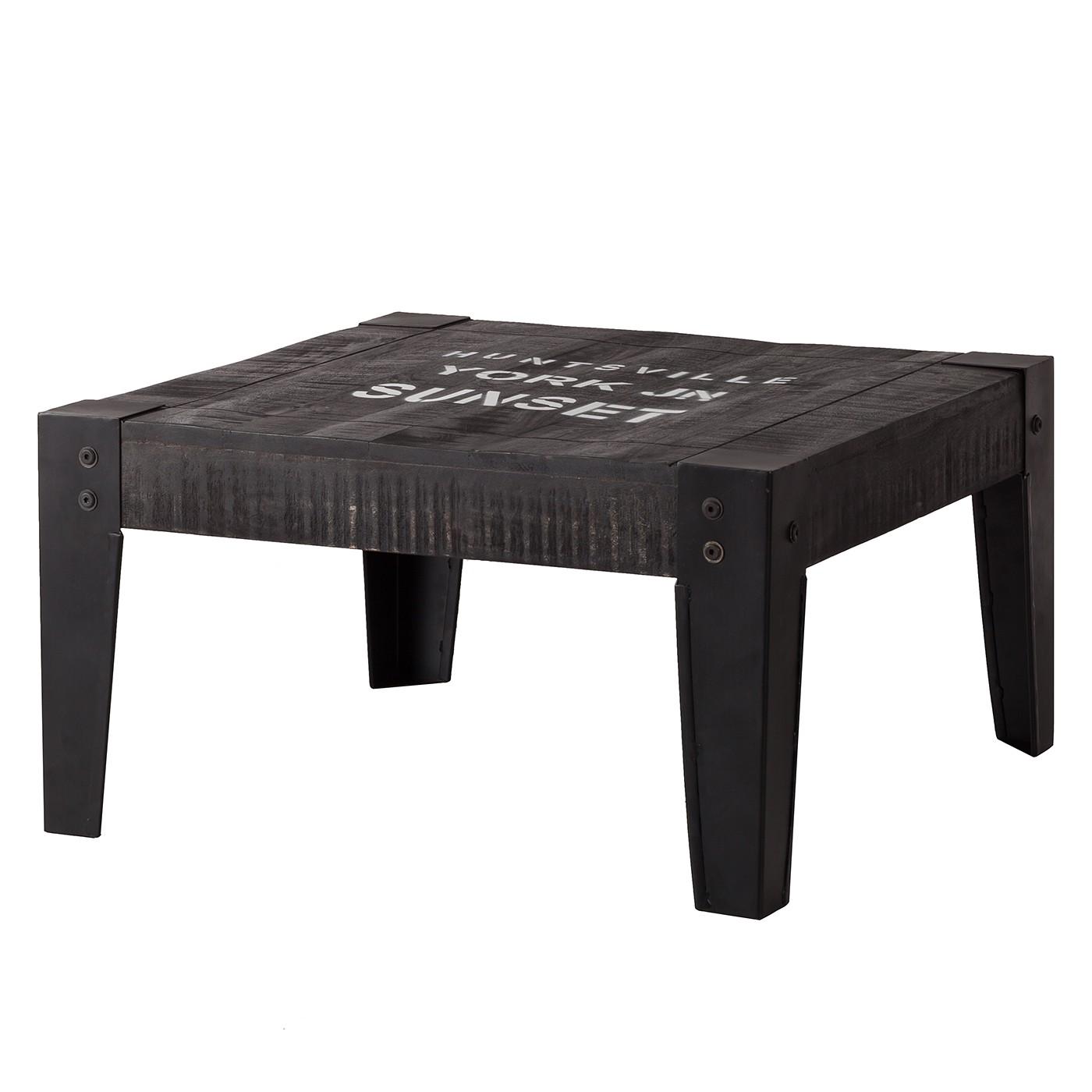 Tavolino da salotto Keyport - legno massello di mango - grigio cenere / nero - 75 x 75 cm, ars manufacti