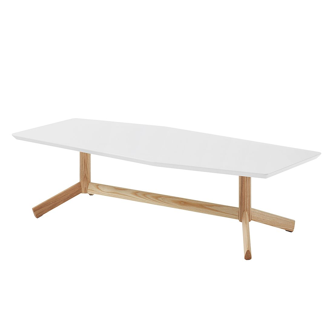 Table basse Kilrea - Blanc mat / Frêne, Morteens