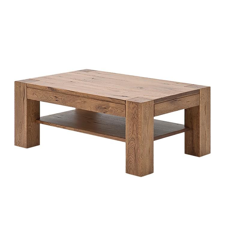 Tavolino da salotto Laras - Effetto quercia di Bassano - 110 x 70 cm, Ars Natura