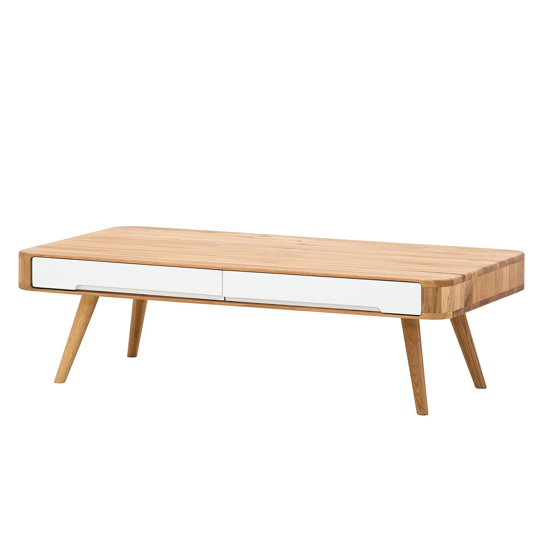 Table basse Loca II - Chêne sauvage partiellement massif - Chêne sauvage / Blanc, Studio Copenhagen