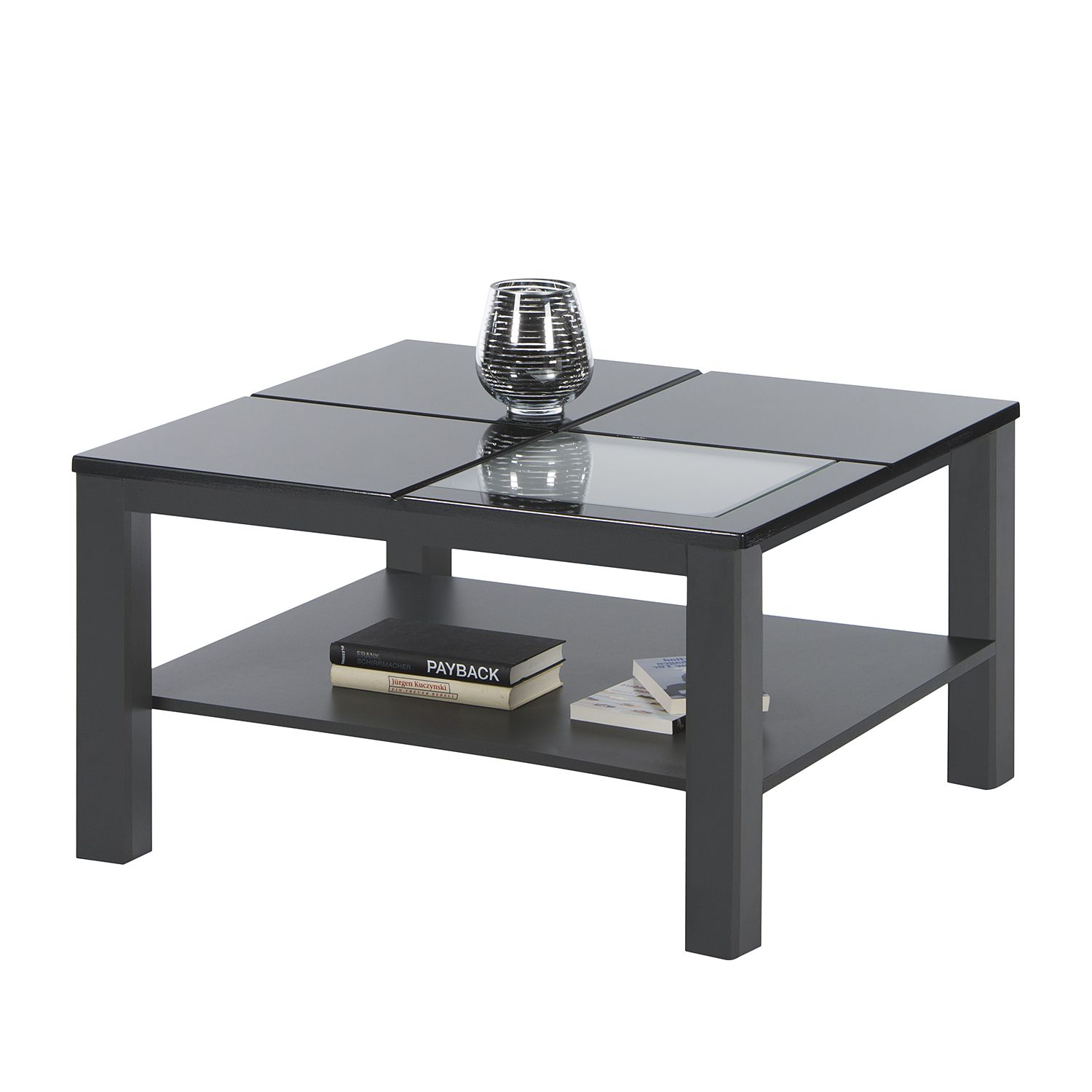 Table basse Margalida - Anthracite brillant - Anthracite, roomscape