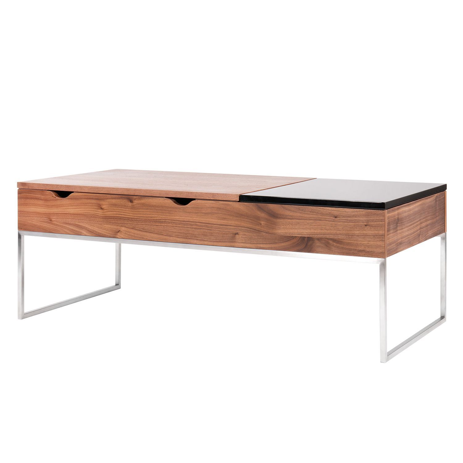 Table basse Max - Noyer / Noir brillant, Fredriks