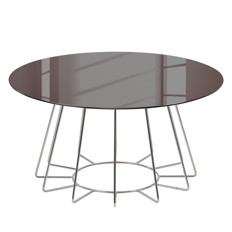 Table basse Motegi - Verre / Métal - Bronze / Chrome, Fredriks