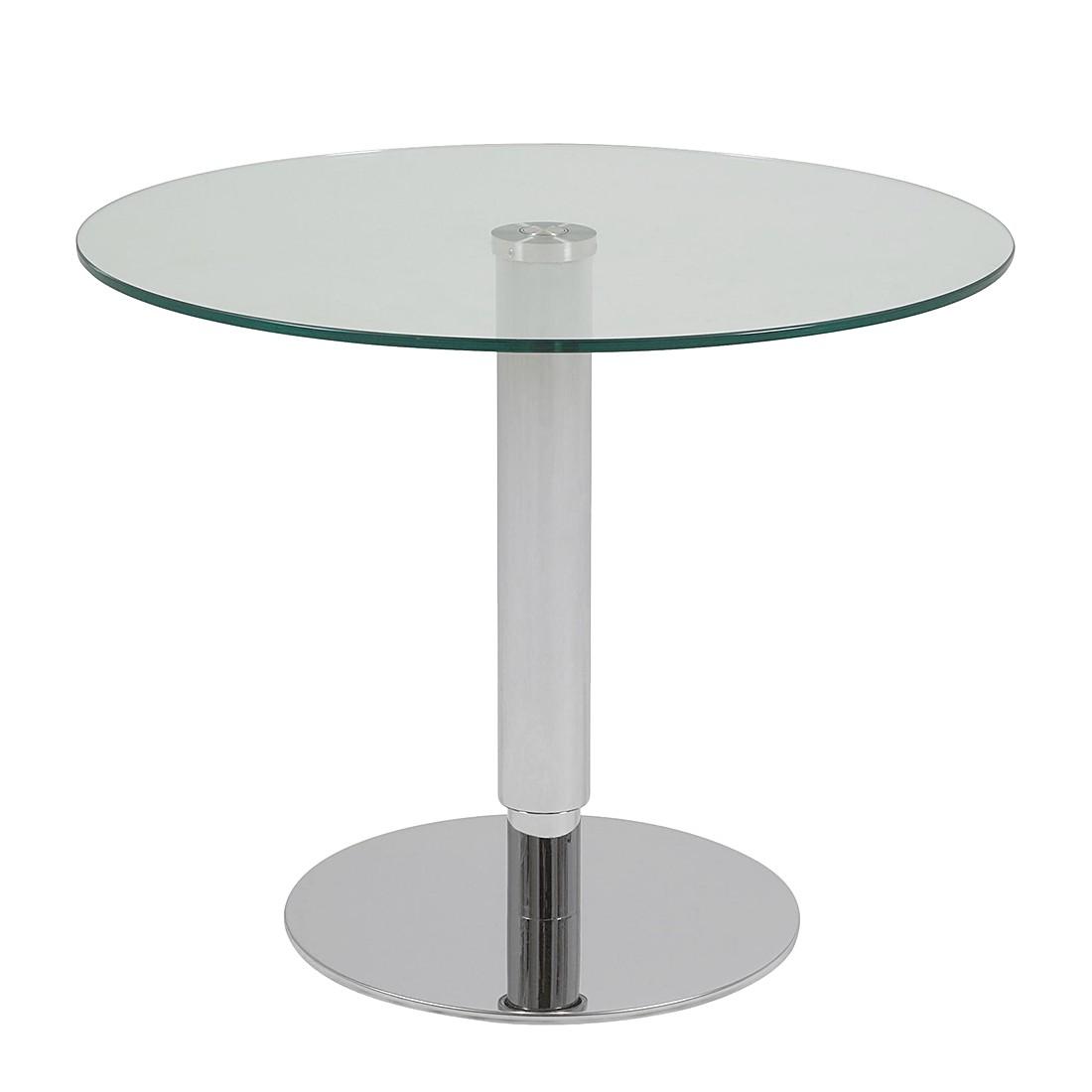 Tavolino da salotto sortellino (altezza regolabile) - acciaio lucidato - diametro : 60 cm, Fredriks