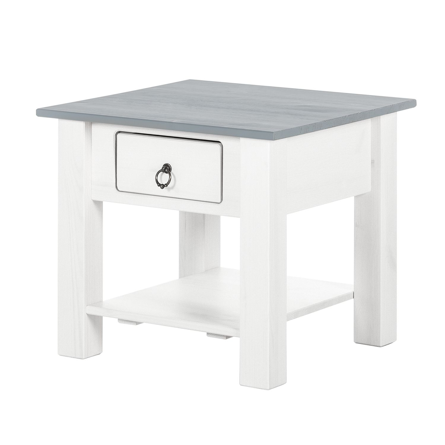 Table d'appoint Valmer I - Pin massif Gris, Maison Belfort