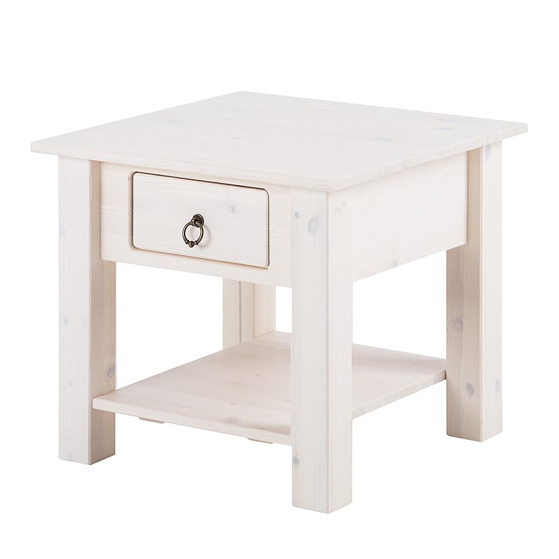 Tavolino da salotto Valmer I - Legno massello di pino Bianco, Maison Belfort