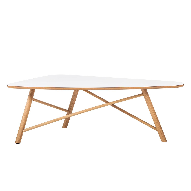 Tavolino da salotto Salby II - Parzialmente in legno massello di quercia - Bianco/Quercia chiara, Studio Copenhagen
