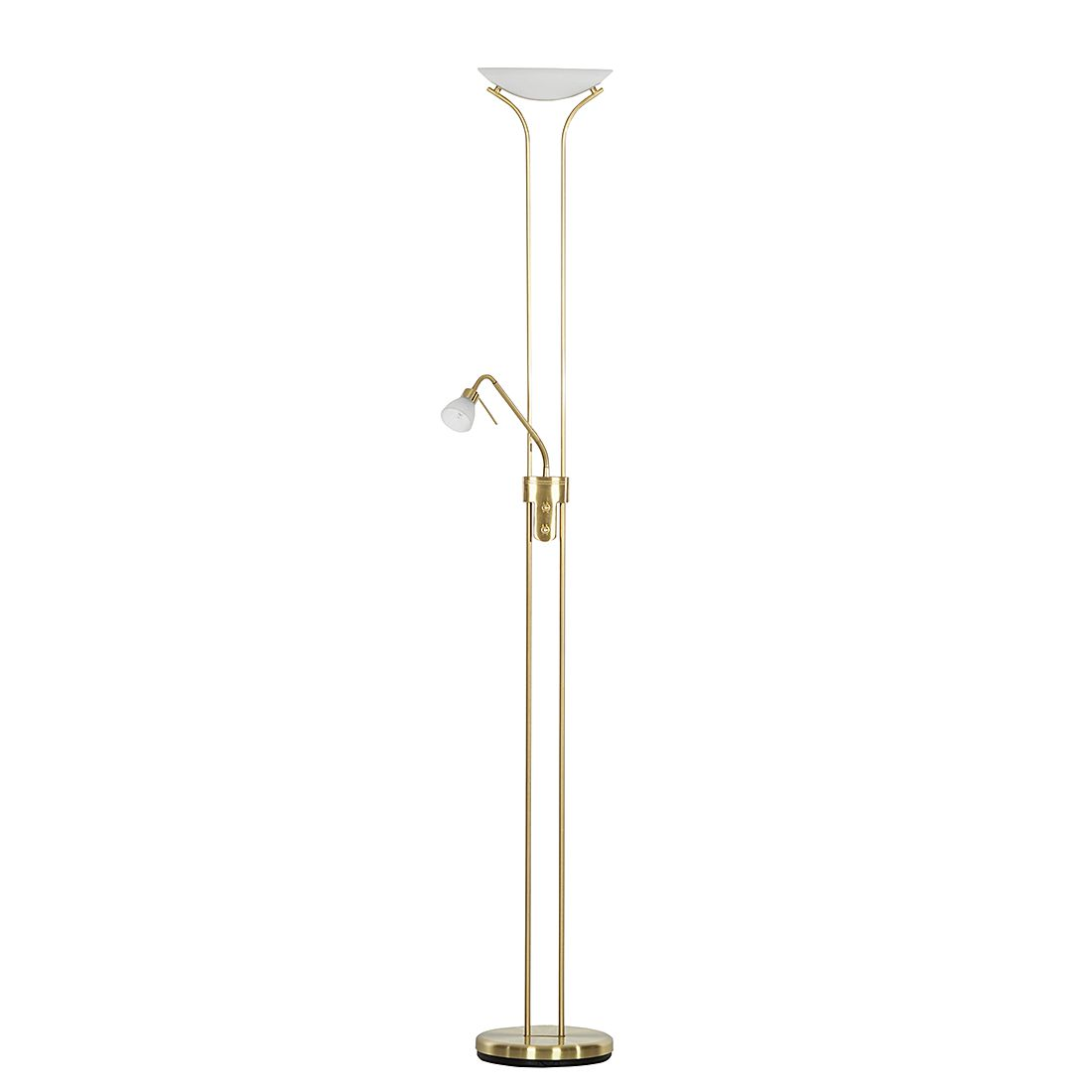 Deckenfluter Tengo | Lampen > Stehlampen > Deckenfluter | Weiss | Glas - Metall | Trio