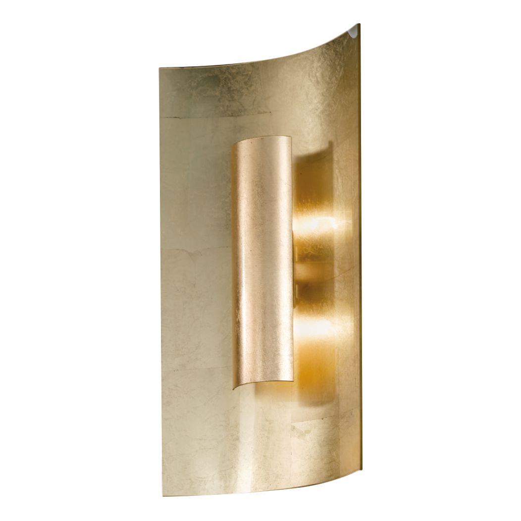 home24 Wandleuchte Aura Gold 45 cm