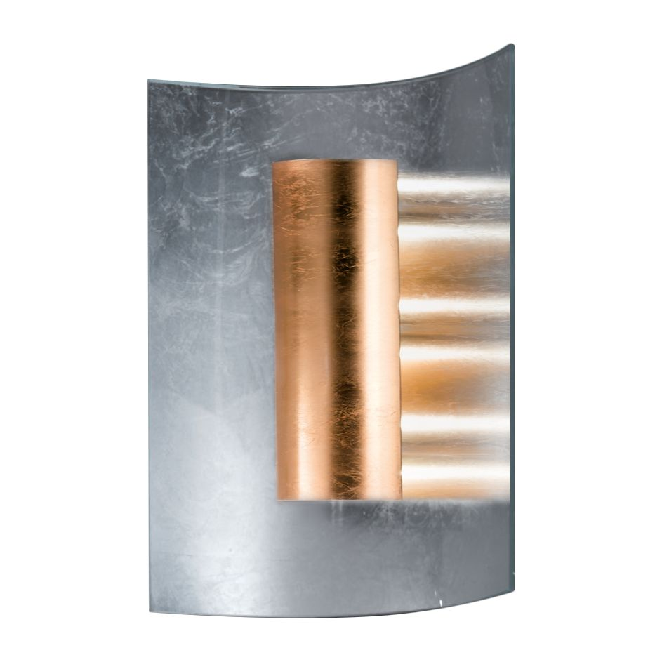 home24 Wandleuchte Aura Silber 30 cm
