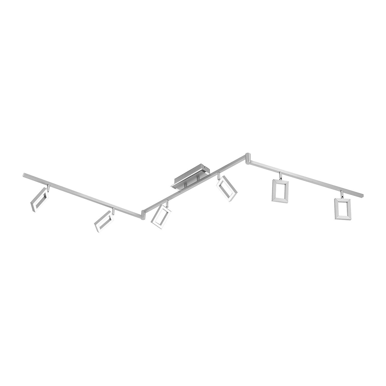 home24 Paul Neuhaus LED-Deckenleuchte Inigo Eisen Stahl 18x158x19 cm (BxHxT)