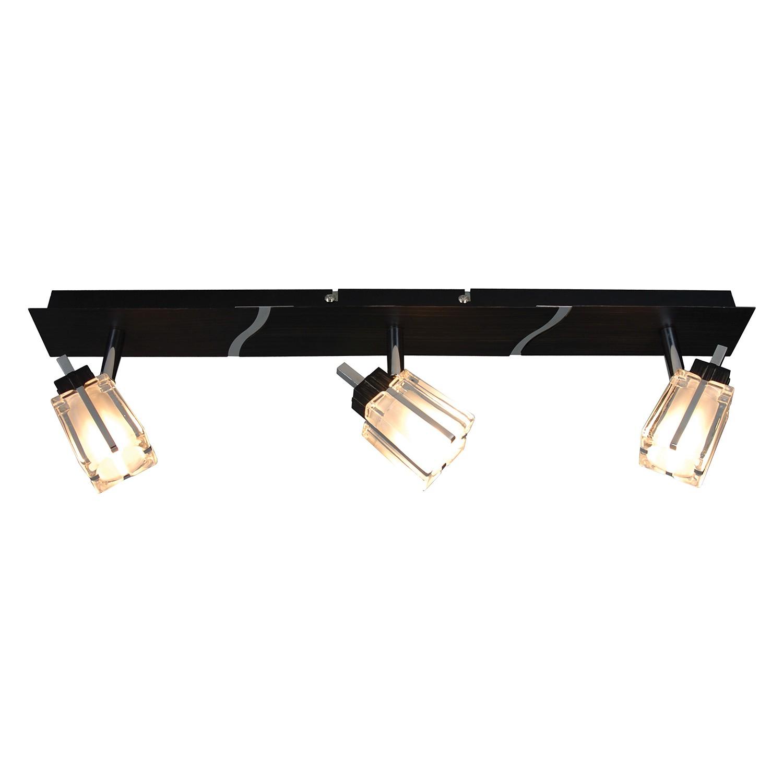 EEK C, Plafonnier Laurenz - Métal Noir 3 ampoules, Näve