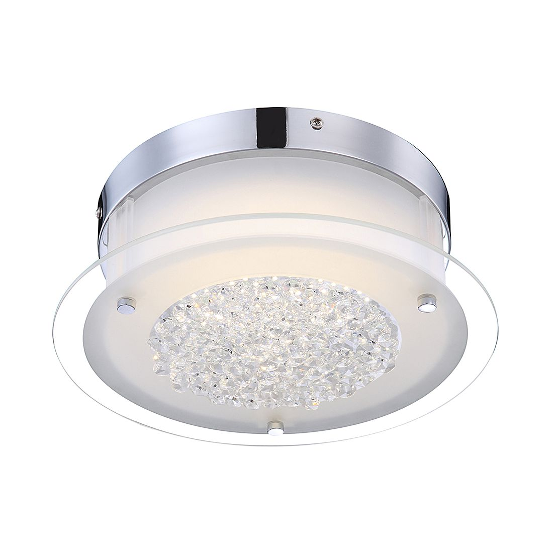 Deckenleuchte Leah I - Metall - Silber - 1-flammig, Globo Lighting