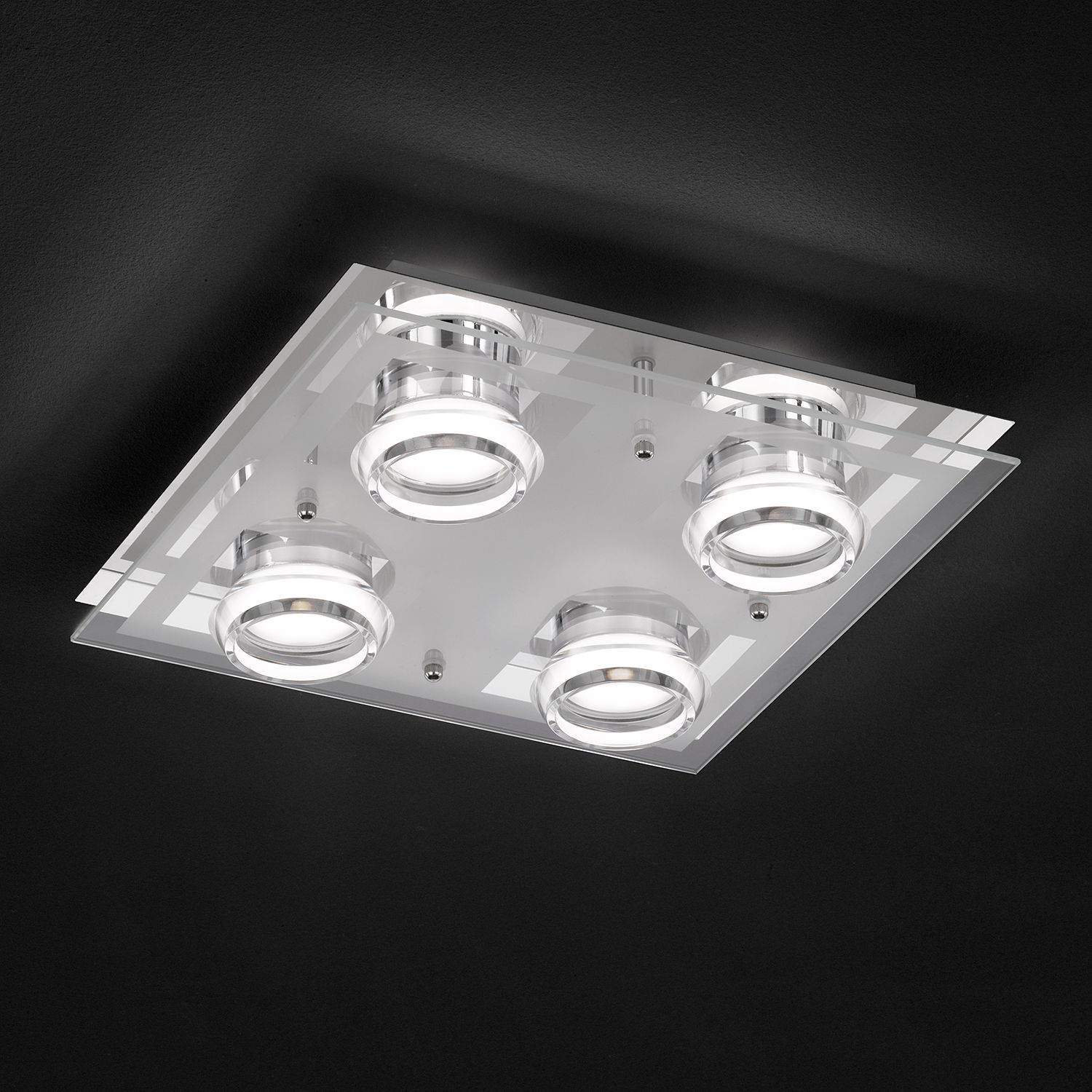 home24 LED-Deckenleuchte Moody