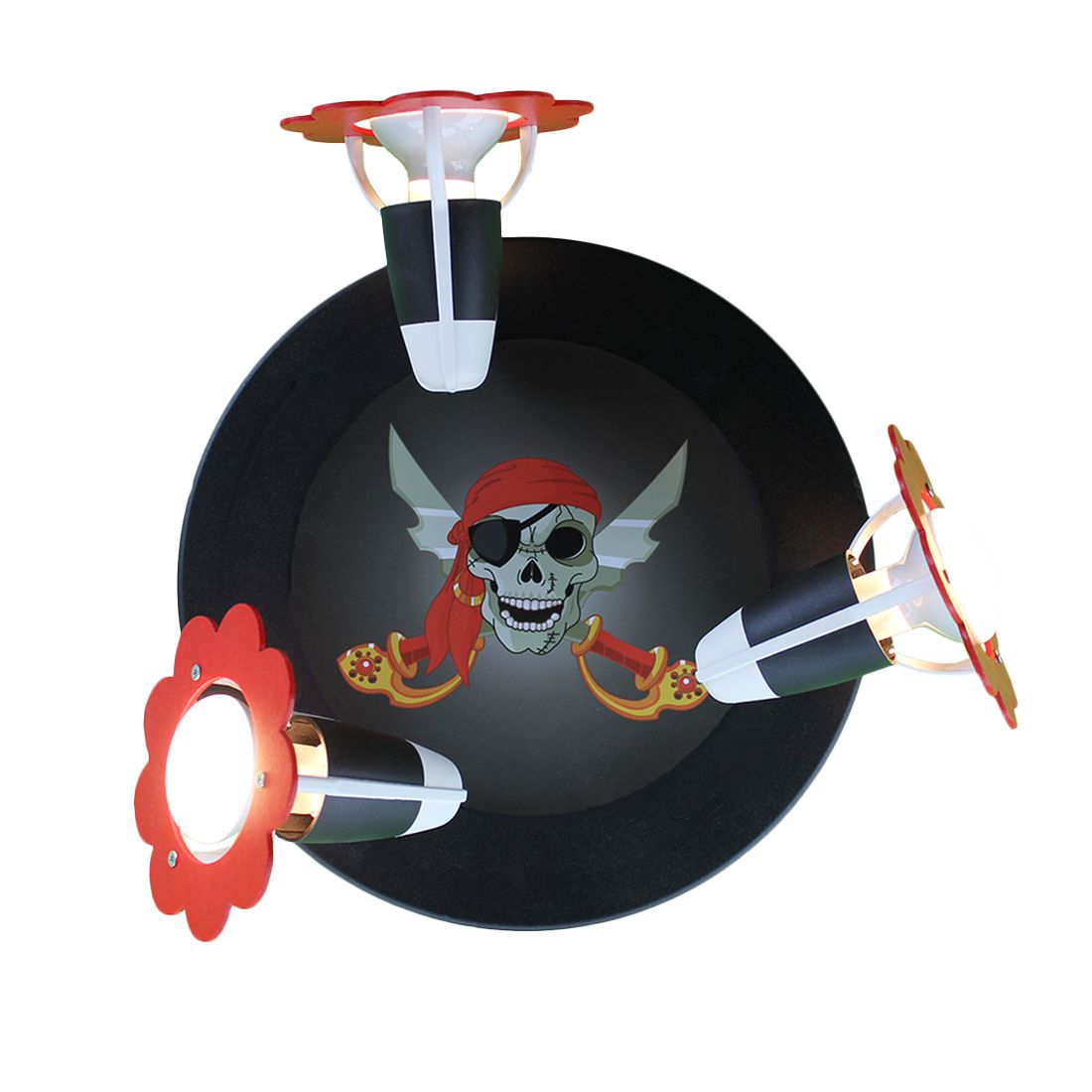 Plafonnier tête de pirate