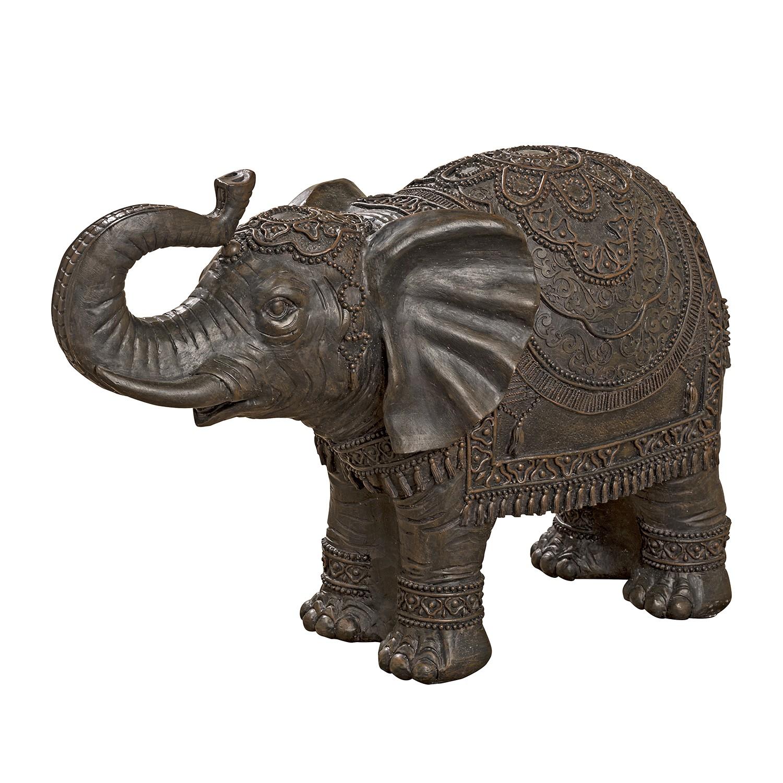 Objekt Elefant - Kunstharz - Braun, ars manufacti