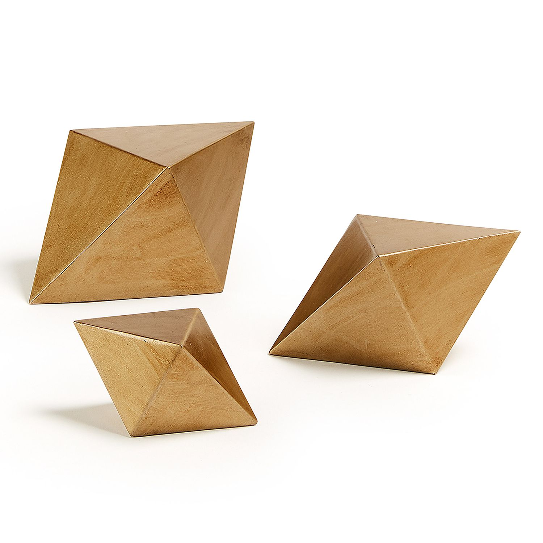 home24 Dekofigur Pyram (3-teilig) | Dekoration > Figuren und Skulpturen | Gold | Metall | twentyfour