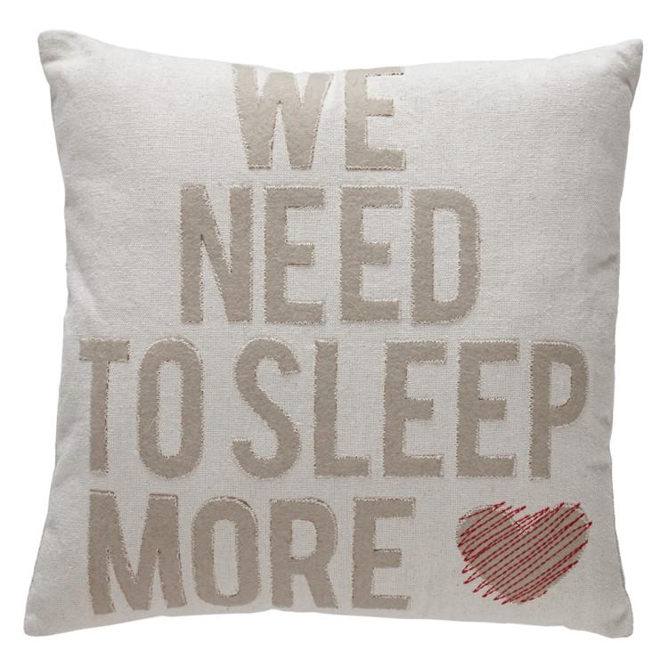 home24 Dekokissen Sleep More | Heimtextilien > Decken und Kissen > Kissen | Beige | Textil | At Home with Marieke