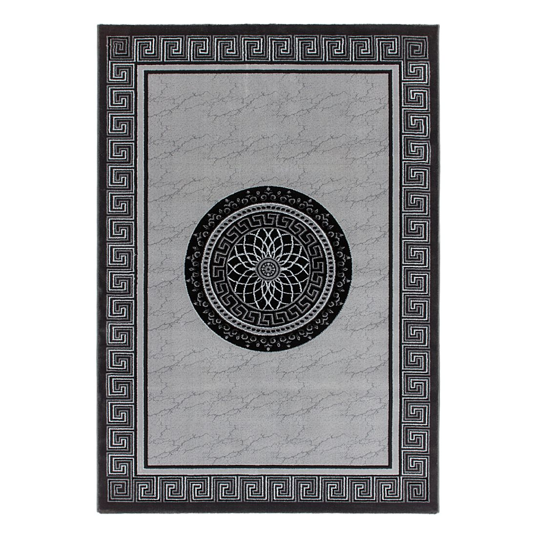 Aura 776 - 70% Polyester, 30% Modacryl Silber - 160 x 230 cm, Kayoom
