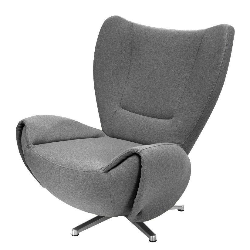 goedkoop Designstoel Tom mosterdgele geweven stof Grijs Tom Tailor