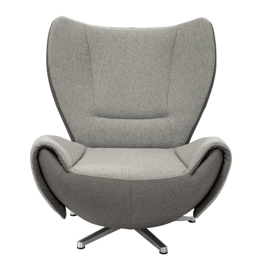 goedkoop Designstoel Tom mosterdgele grijs bruine geweven stof Grijs bruin Tom Tailor