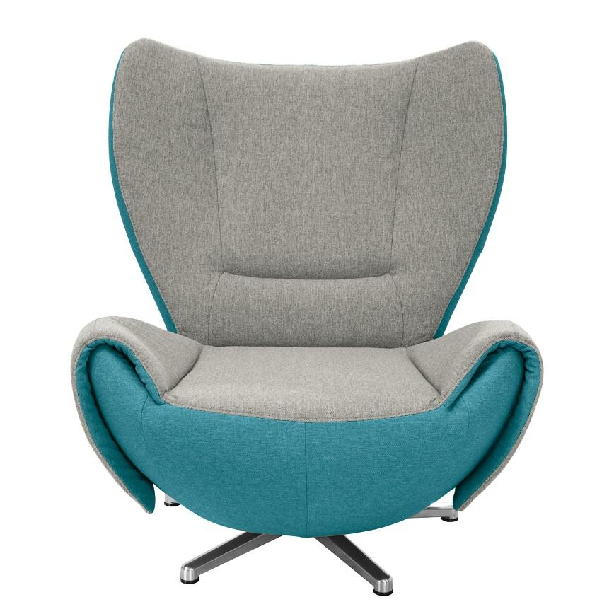 goedkoop Designstoel Tom mosterdgele grijs bruine geweven stof Grijs petrolblauw Tom Tailor