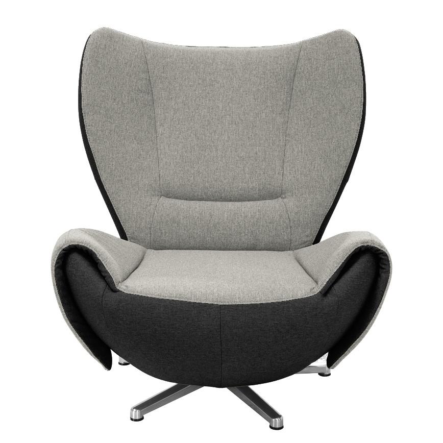 goedkoop Designstoel Tom mosterdgele grijs bruine geweven stof Grijs zwart Tom Tailor