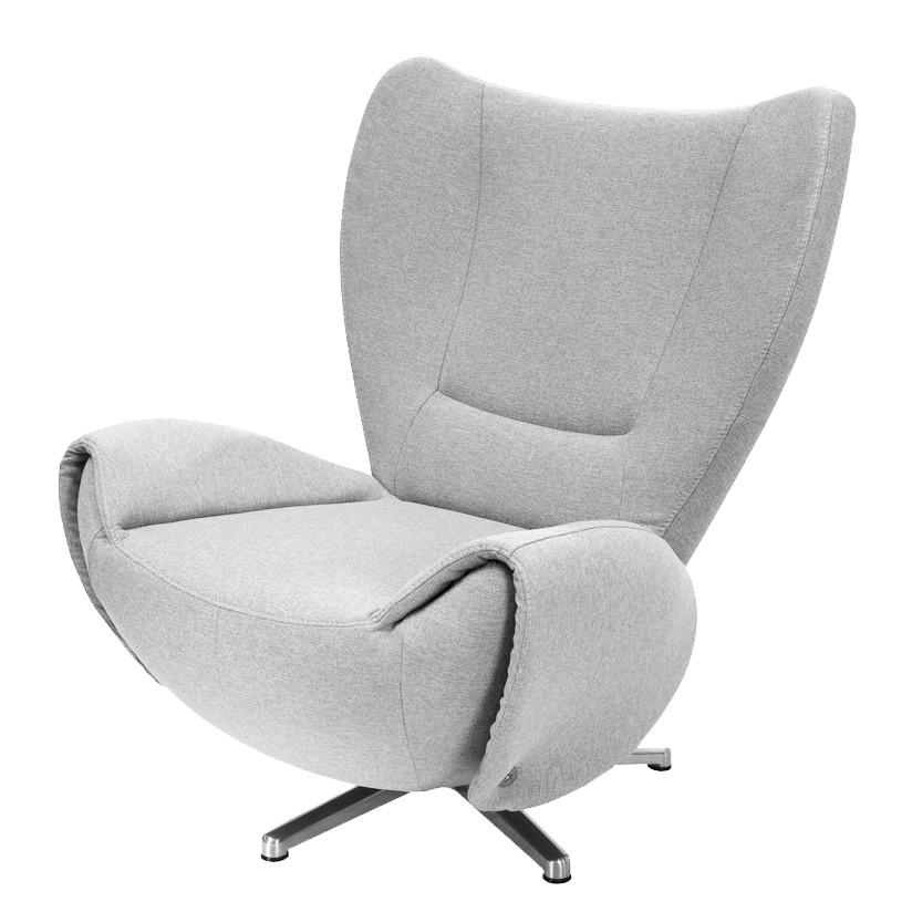goedkoop Designstoel Tom mosterdgele geweven stof Lichtgrijs Tom Tailor