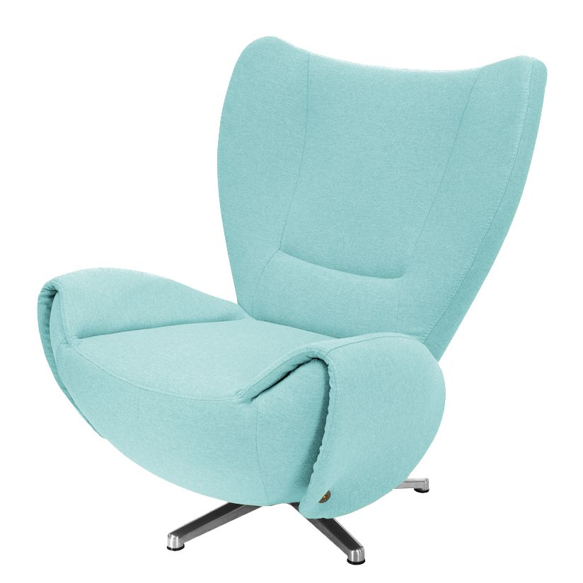 goedkoop Designstoel Tom mosterdgele geweven stof Hemelsblauw Tom Tailor