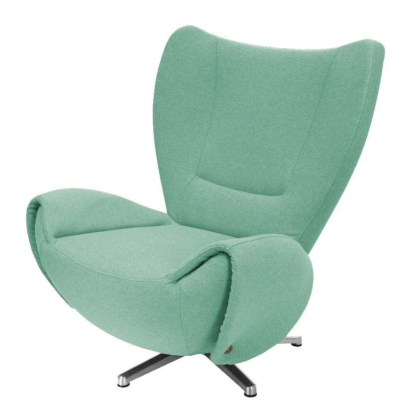 goedkoop Designstoel Tom mosterdgele geweven stof Mintkleurig Tom Tailor