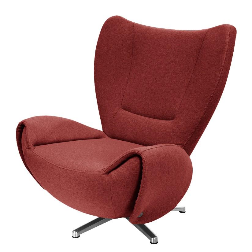 goedkoop Designstoel Tom mosterdgele geweven stof Rood Tom Tailor