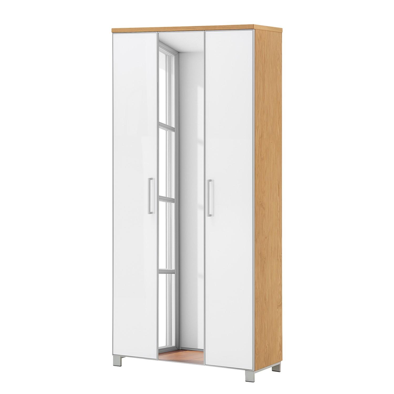 Armoire d'entrée Alavere II - Blanc / Bianco chêne, Voss