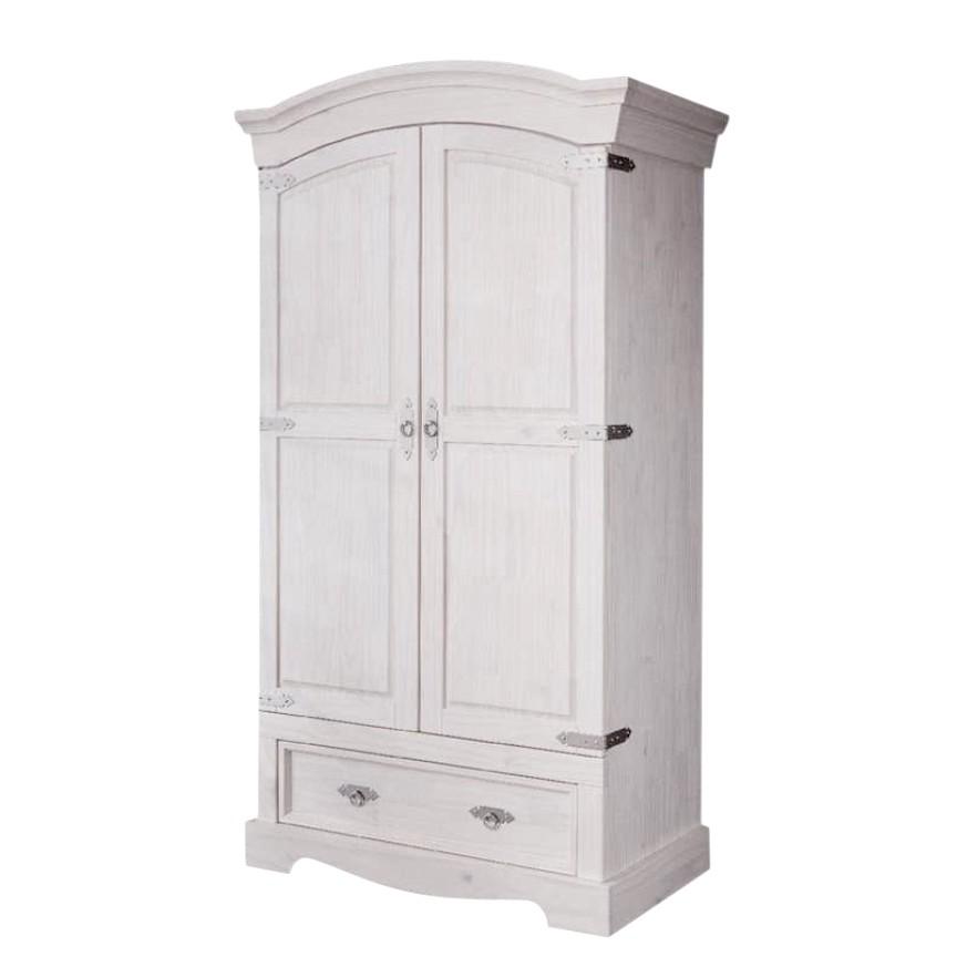 goedkoop Garderobekast Lucia 2 deurs massief grenen Maison Belfort