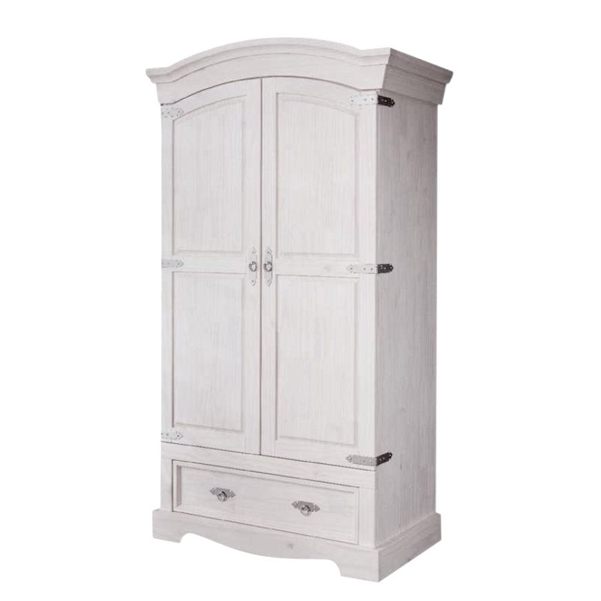 Armoire de vestibule Lucia - Pin massif - Blanc, Maison Belfort