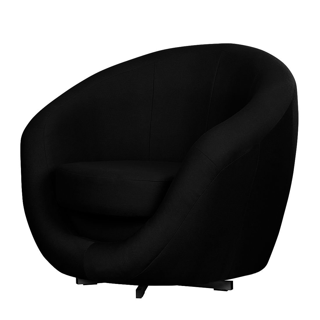 scrapeo fauteuil pouf tissu noir. Black Bedroom Furniture Sets. Home Design Ideas