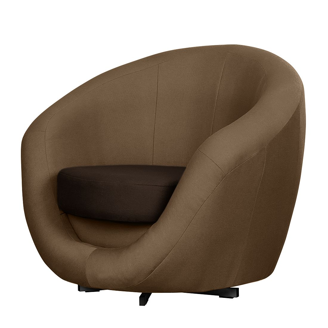 Fauteuil pivotant Marvin - Tissu - Taupe / Mocca, Fredriks