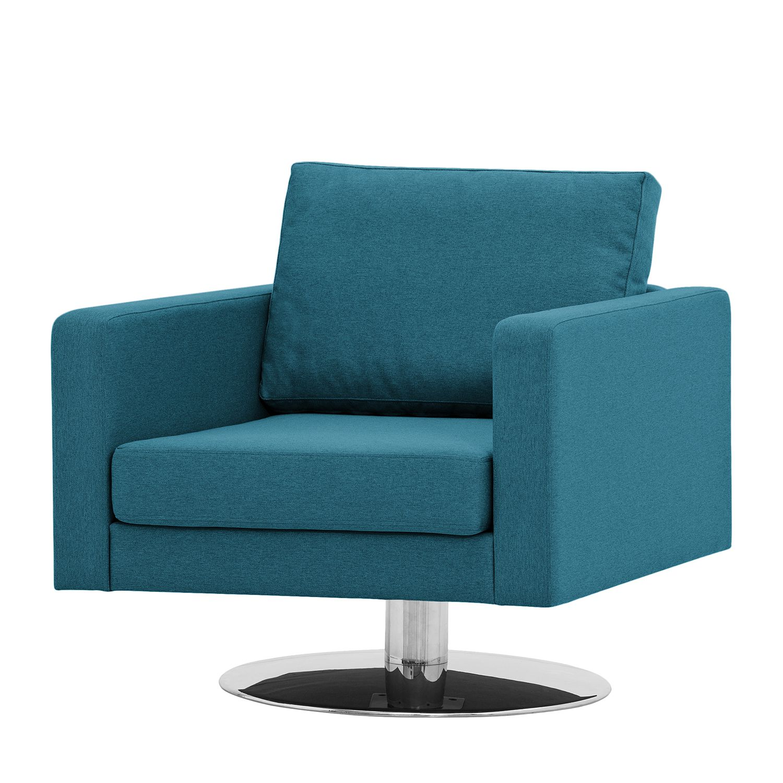 goedkoop Draaifauteuil Portobello geweven stof Stof Ramira Turquoise Fredriks