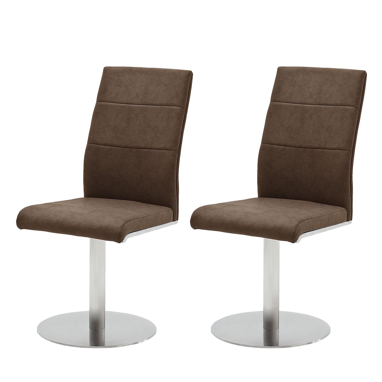 home24 Drehstuhl Palmyra (2er-Set)   Büro > Bürostühle und Sessel  > Bürostühle   Braun   roomscape