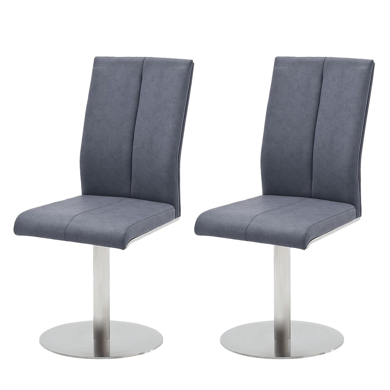 home24 Drehstuhl Sayreville (2er-Set) | Büro > Bürostühle und Sessel  > Bürostühle | Blau | Kunstleder - Metall | roomscape