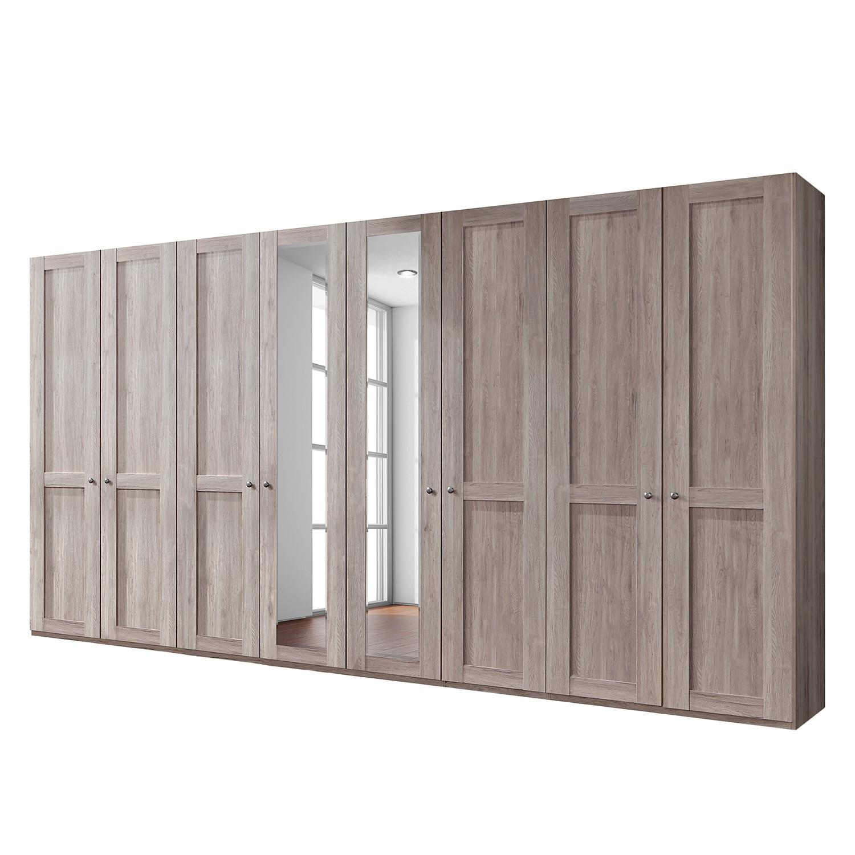 goedkoop Draaideurkast Bergamo Zonder verlichting Truffeleikenhouten look 400cm 8 deurs 2 spiegeldeuren Zonder kroonlijst Wiemann