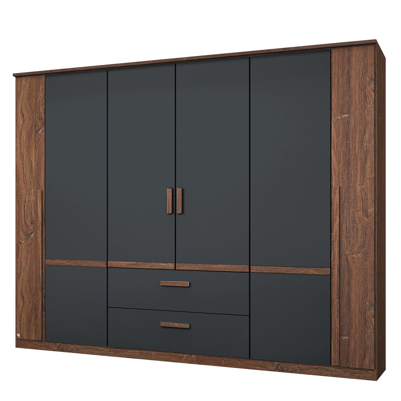 goedkoop Draaideurkast Bernau Donkerbruin antracietkleurig 226cm 6 deurs Rauch Packs