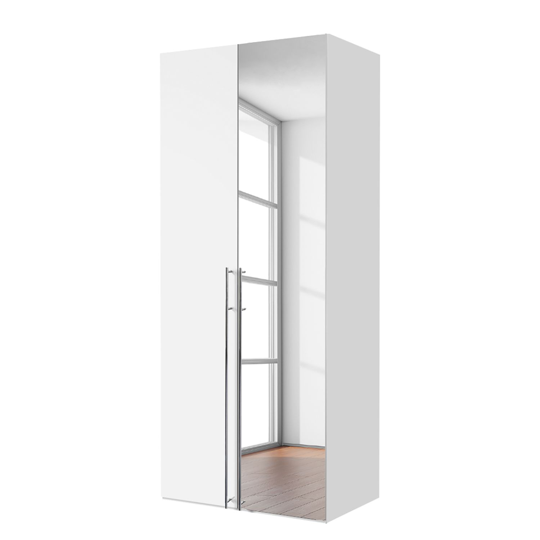 goedkoop Draaideurkast Brooklyn II wit spiegel 100cm 2 deurs 236cm Express Mobel