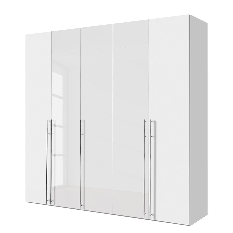 goedkoop Draaideurkast Brooklyn XIII Alpinewit hoogglans wit 250cm 5 deurs 216cm Express Mobel