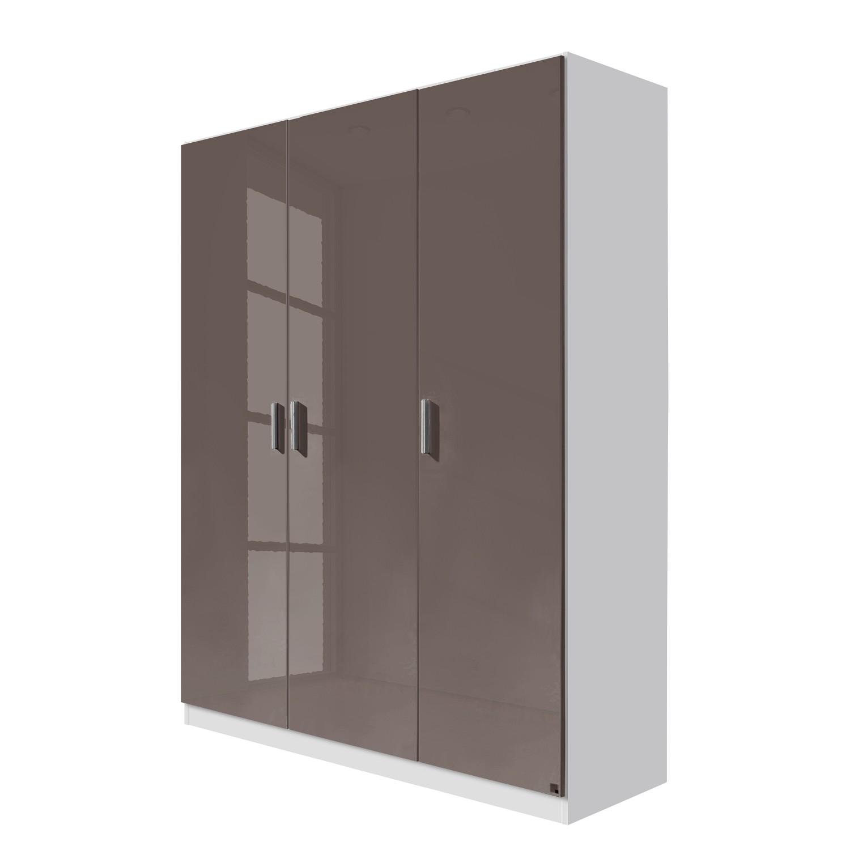 goedkoop Draaideurkast Celle Alpinewit hoogglans lavagrijs 136cm 3 deurs Rauch Packs
