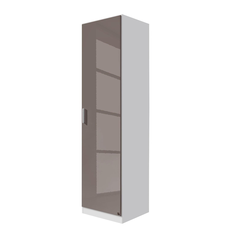 goedkoop Draaideurkast Celle Alpinewit hoogglans lavagrijs 47cm 1 deurs Rauch Packs