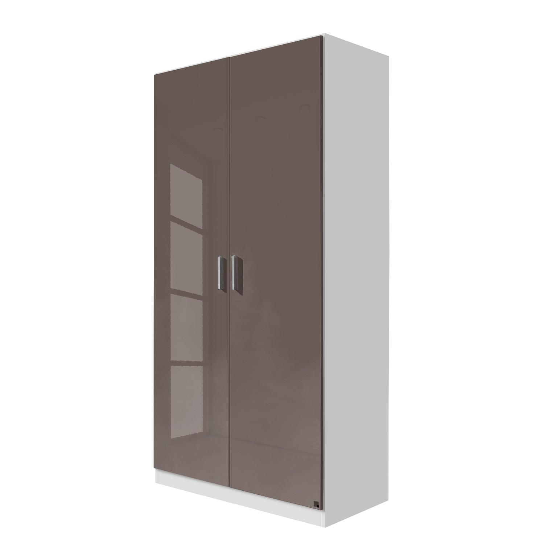 goedkoop Draaideurkast Celle Alpinewit hoogglans lavagrijs 91cm 2 deurs Rauch Packs